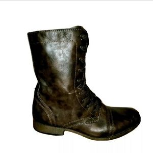 MOSSIMO & Co. Brown moto style boots Size 11